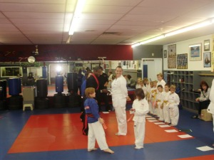 Receiving My White Belt!